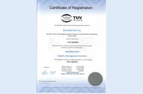 شرکت سیناریل پارس موفق به اخذ گواهینامه بین المللی سیستم مدیریت کیفیت ISO9001:2015 شد.