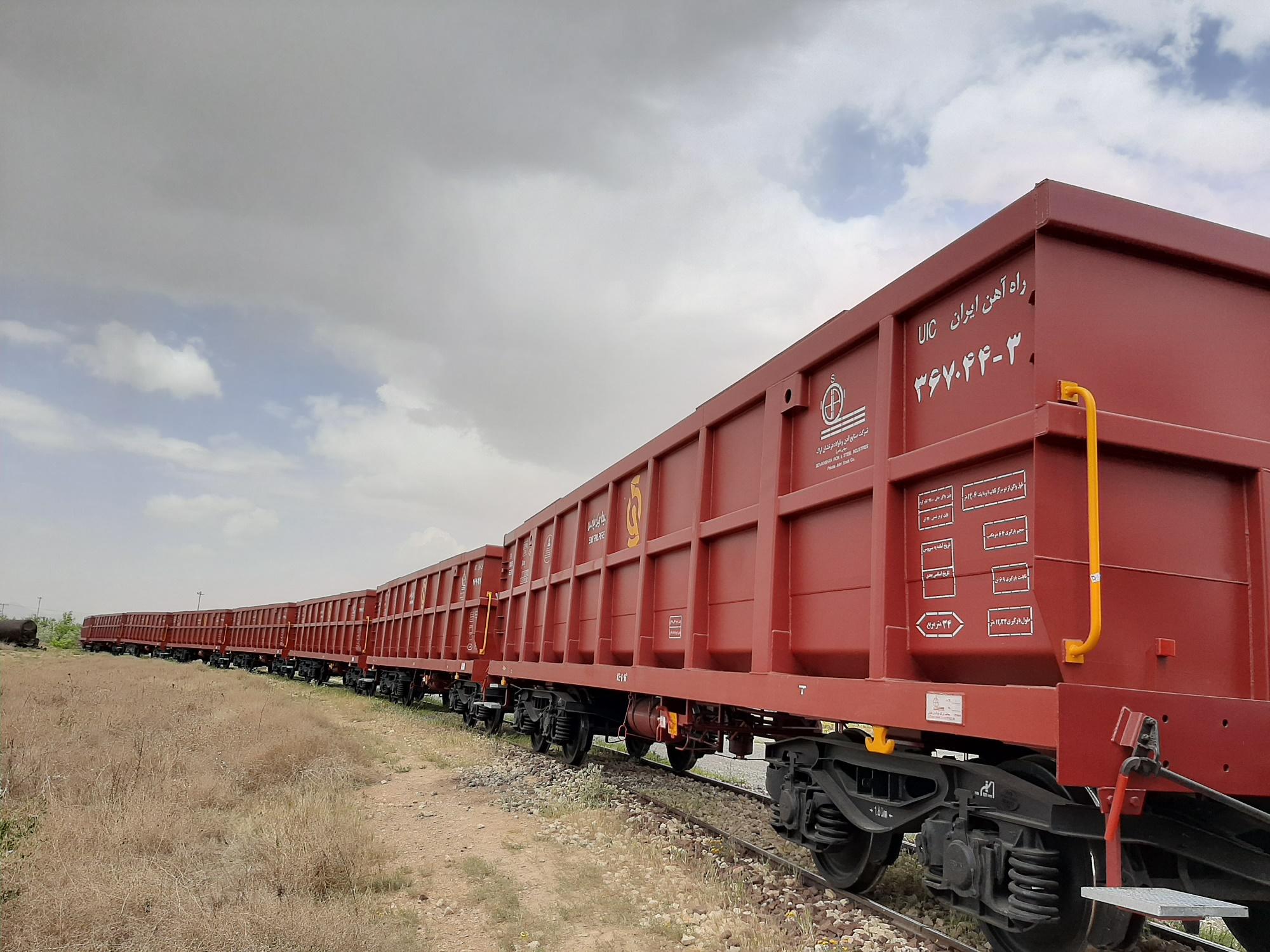 افزوده شدن ۲۵ دستگاه واگن لبه بلند به ناوگان شرکت سینا ریل پارس و اتمام پروژه ۱۰۰ دستگاه